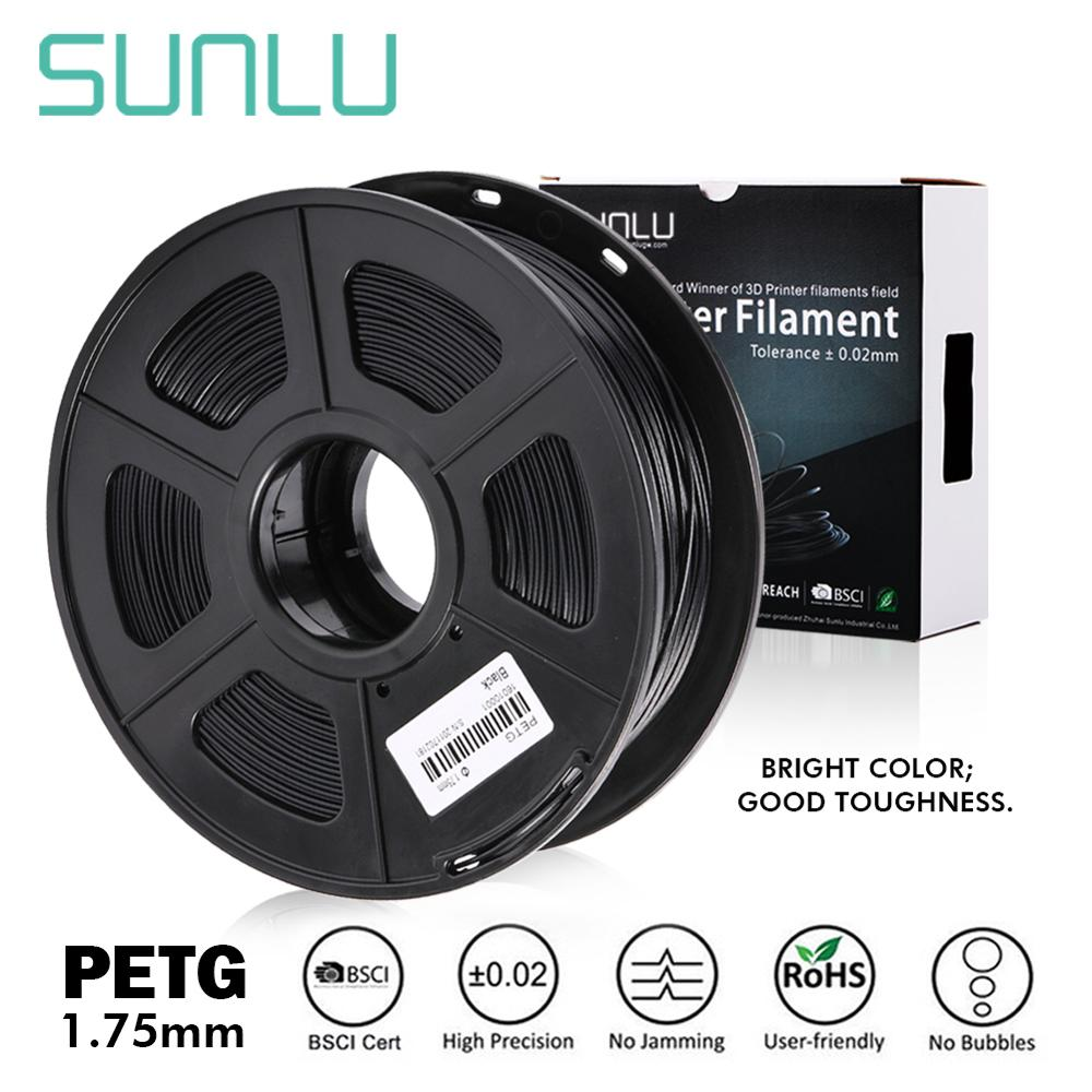 SUNLU 3D Printer Filament 1.75mm PETG White Gift DIY Printing Sell With 5 Pcs With Cheap And Fast Shipment