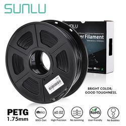 SUNLU 3D yazıcı Filament 1.75mm PETG beyaz hediye DIY baskı satmak 5 adet ucuz ve hızlı sevkiyat