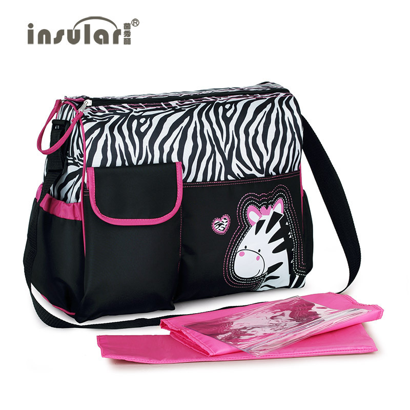 Insular New Style Cartoon Large-Volume Diaper Bag Shoulder Waterproof Multi-functional Mommy Bag Mom And Baby Diaper Bag