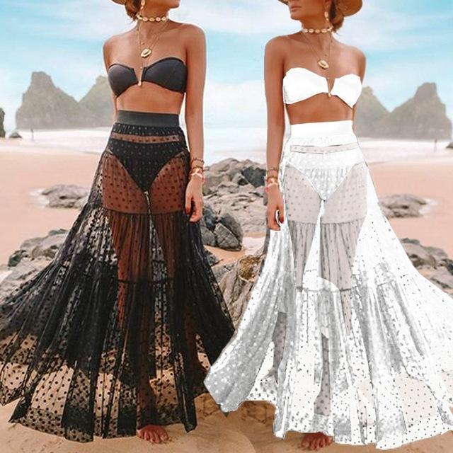 Swimsuit Cover Up Mesh See Through Beach Cover Up Women Bikini