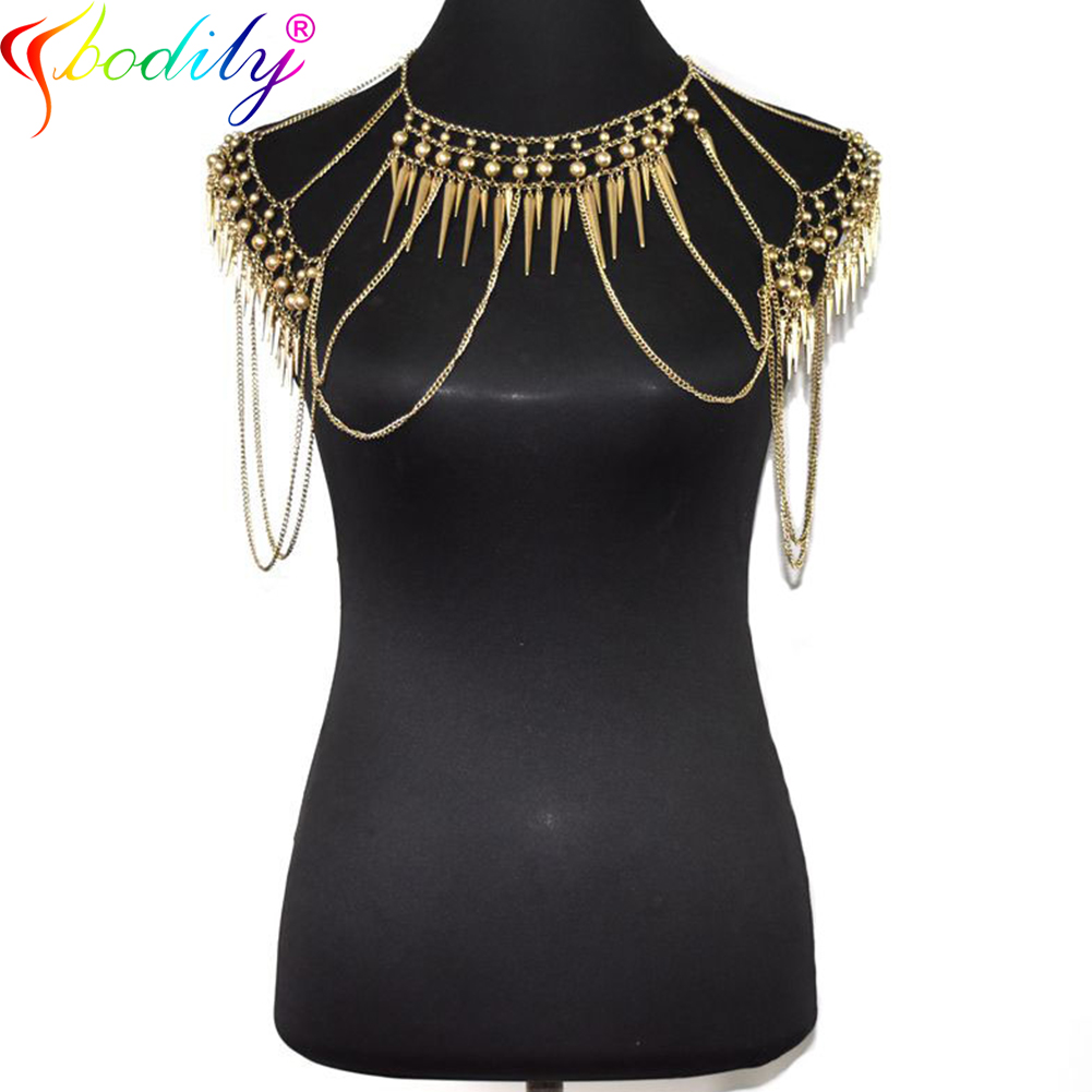 Ccbodily Bohemia Double Bead Belly Chain Body Jewelry Women Summer Sexy Bikini Beach Waist Chain Glamour Retro Shoulder Chain