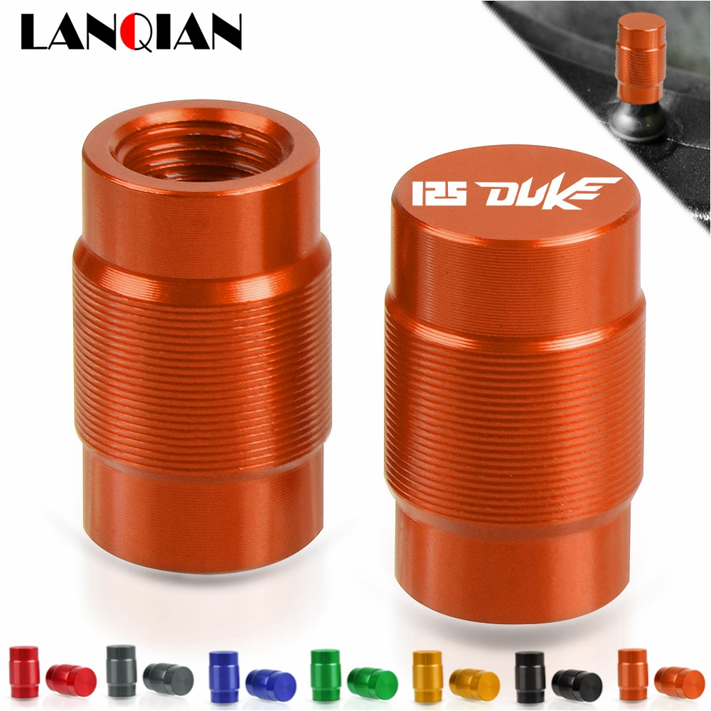 For KTM RC125 125 Duke Motorcycle Aluminum Wheel Tire Valve Stem Caps RC125 125 Duke 2011 2012 2013 2014 2015 2016 2017 2018 image