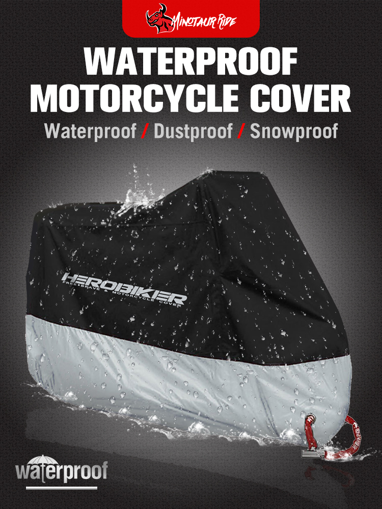 HEROBIKER Motorcycle-Cover Uv-Protective Outdoor Waterproof All-Season