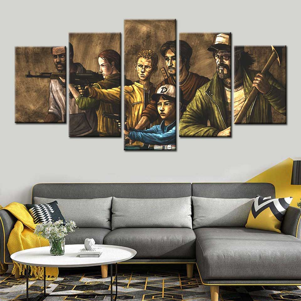 Wall Art Canvas Prints.Us 5 24 49 Off The Walking Dead The Comic Wall Art Paint Wall Decor Canvas Prints Canvas Art Poster Paintings Wall Pictures For Living Room On