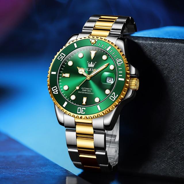 Original Luxury Automatic Watch Men Mechanical Movement Waterproof Sports Top Brand Stainless Steel Wristwatch Reloj Hombre 6