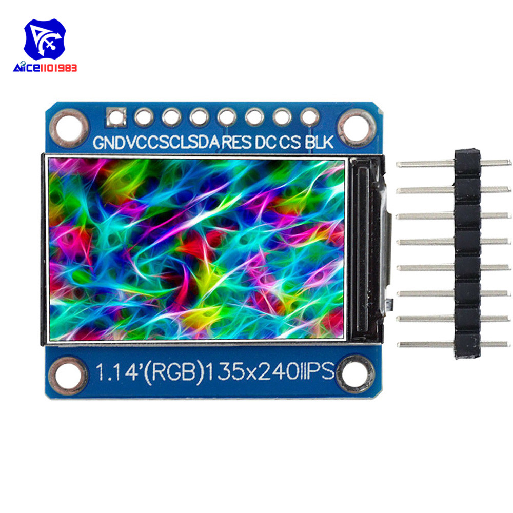 Diymore 1.14 Inch SPI 240x135 RGB TFT LCD Display Module ST7789 IPS HD LCD Display For Arduino C51 STM32 3.3V With Pin