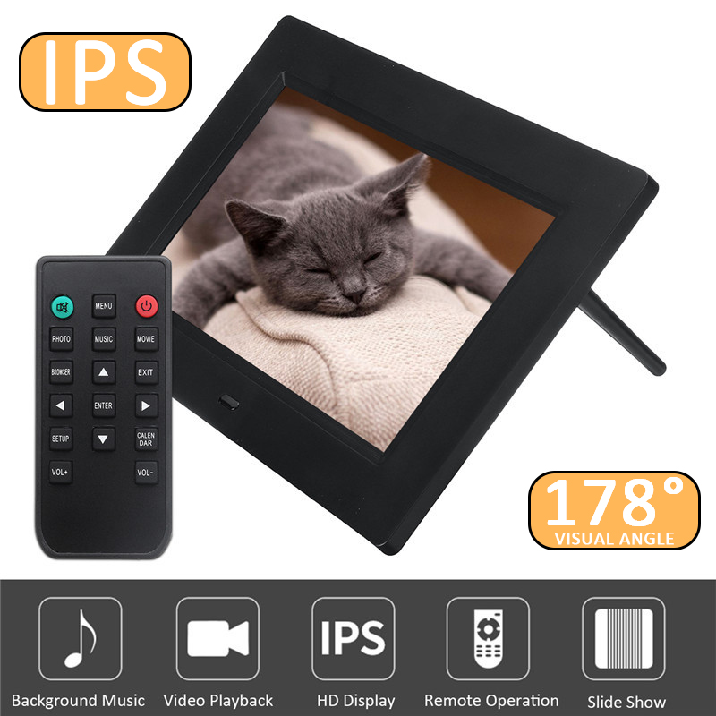 Digital Photo Frame 10 inch IPS Screen LED HD 1024*600 Electronic Album Picture Music MP3 MP4 178 visual Angle Digital Gift