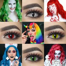 Uyaai 2 шт/пара контактные линзы для глаз Хэллоуин косметический