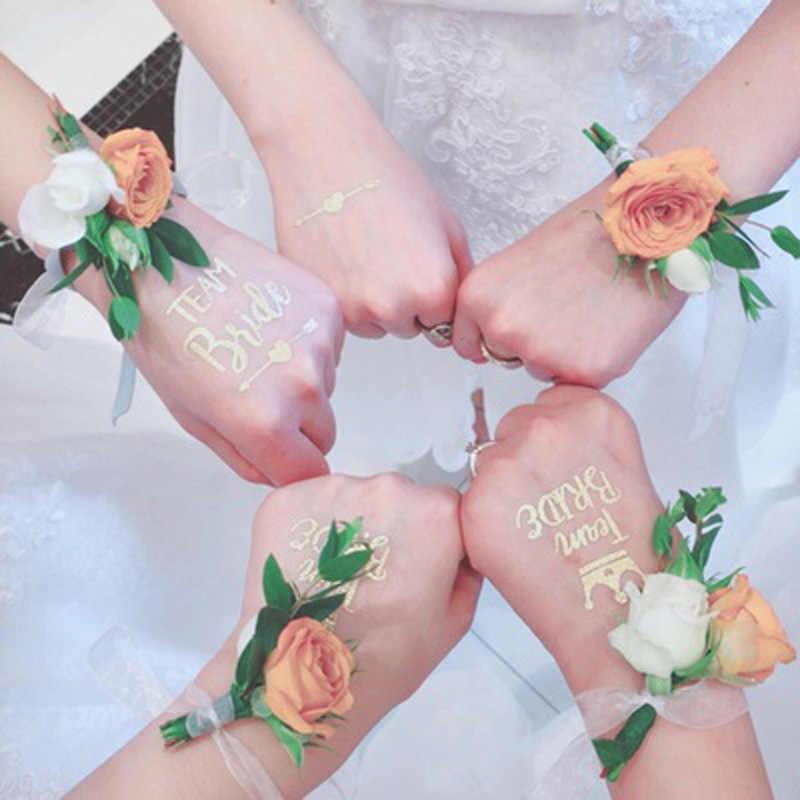 チーム花嫁部族花嫁介添人新郎ワインガラスステッカー花嫁は独身編パーティーブライダルシャワーの装飾のギフト 1PC