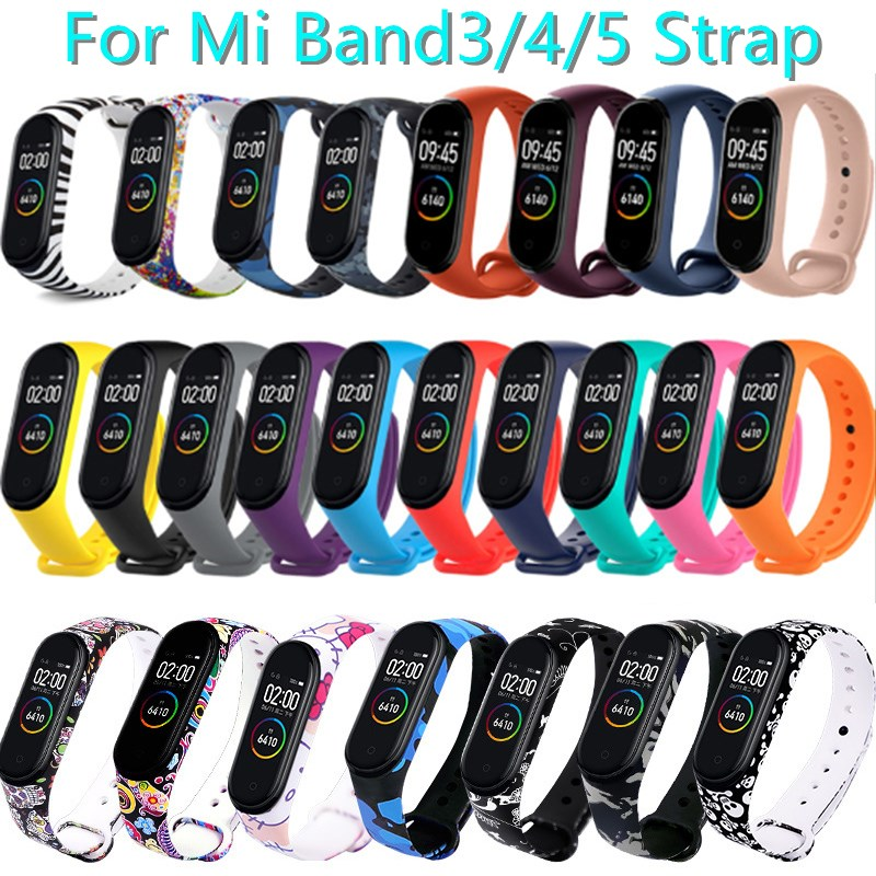 Bracelet For Xiaomi Mi Band5 4 3 Strap Sport watch Silicone wrist strap For Xiaomi Mi Band4 3 5 Fashion Smart Wristband bracelet