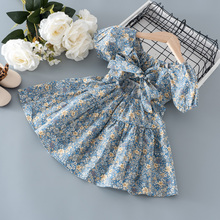 Летняя одежда для маленьких девочек 1, 2, 3 лет, наряд, Цветочное платье для 1-й девочки, детская одежда, платья принцессы на день рождения, плат...