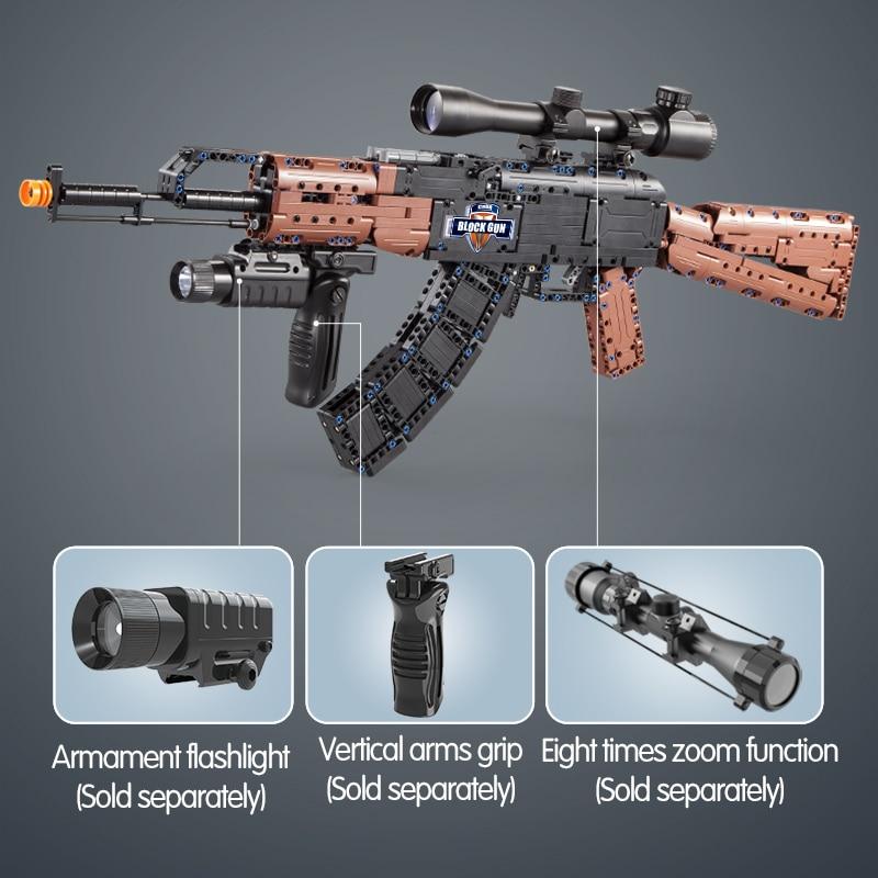 Cada SWAT Military WW2 Weapon AK47 Models Building Blocks