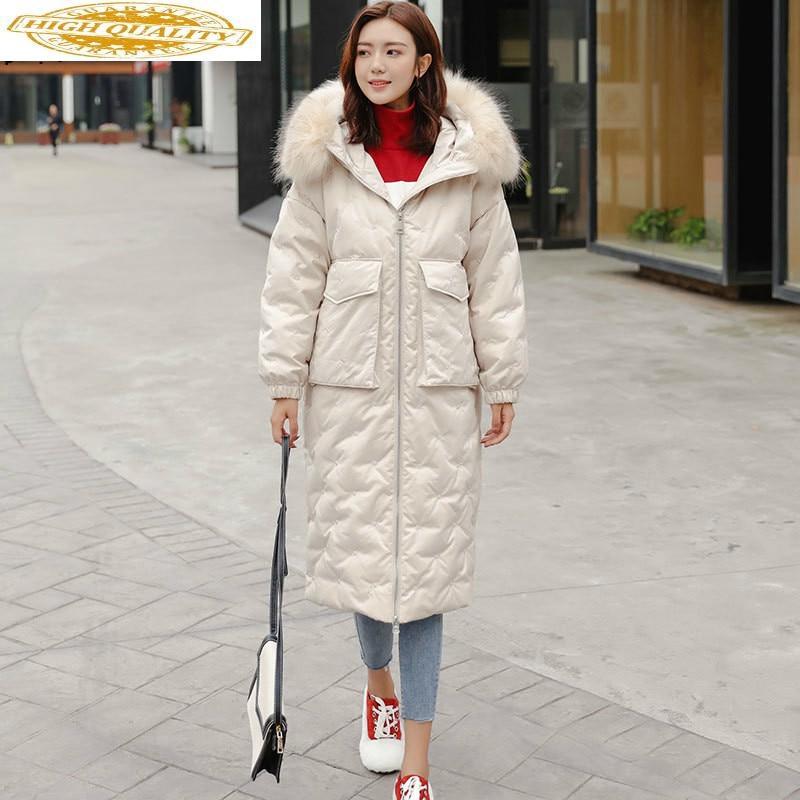2020 Winter Women's Down Jacket Hooded Korean Puffer Coat Female Jacket Duck Down Coat Chamarras De Mujer 8517 YY1229