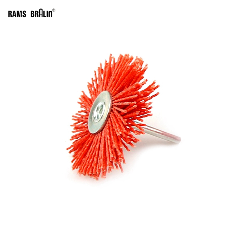 1 Piece 85mm*6mm Mounted Abrasive Wire Polishing Brushes Wheel For Slots Grinding Deburring