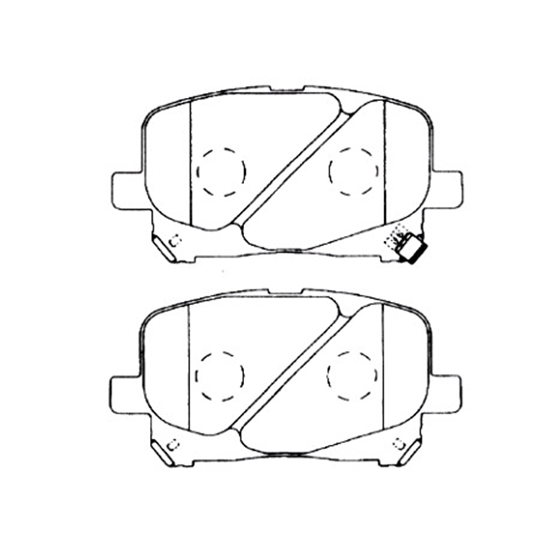 AKEBONO pads brake disc front FIT FOR Toyota Estima-03 AN-638WK estima керамогранит estima brigantina bg05 коричневый 15х60