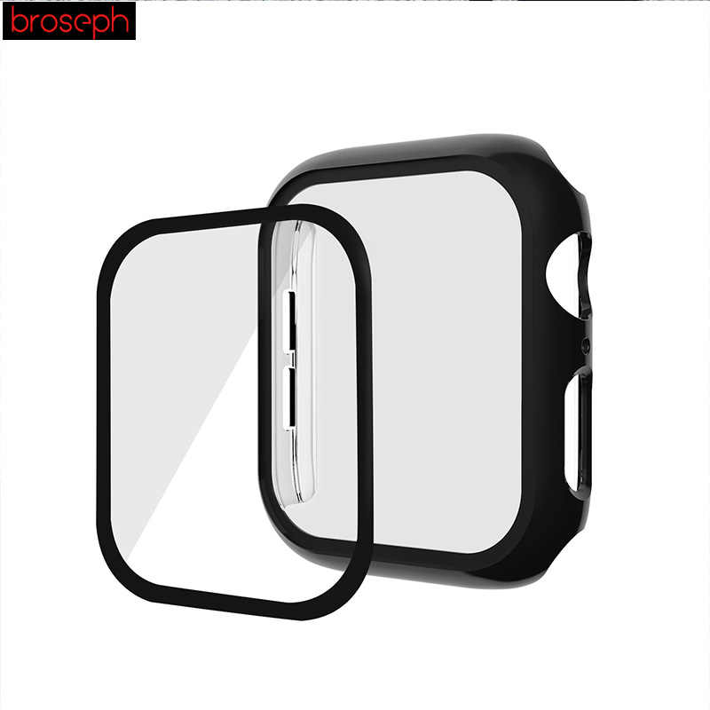 3D מגן מקרה סרט עבור אפל שעון סדרת 4 44mm 40mm מסך מגן Shell Case כיסוי עבור iwatch סדרת 1 2 3 42mm 38mm