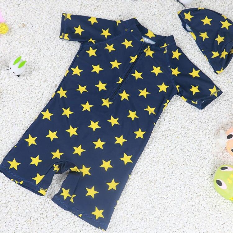 KID'S Swimwear BOY'S Quick-Dry Hot Springs Swimwear Long Sleeve Warm Cute Swimming Trunks Baby Infant Kids One-piece Star