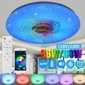 Современный RGB светодиодный потолочный светильник home Lighting 36 Вт/60 Вт 40 см приложение пульт дистанционного управления bluetooth музыкальный свети...