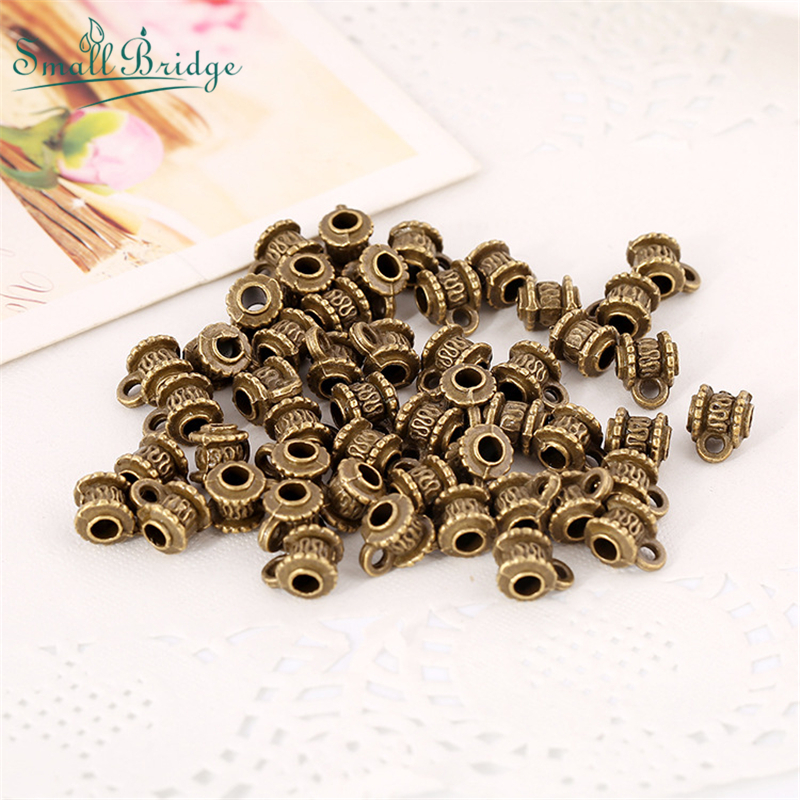 50pcsPlating Vintage Metal Beads For Bracelet Necklace Pendant Connector Jewelry Making Accessories Elbow Hanging Head Wholesale
