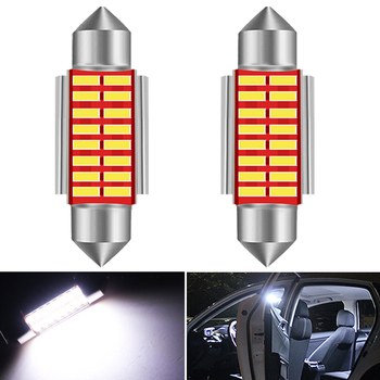 2x LED Bulb 36mm Canbus C5W Bulbs 39mm 41mm Car Interior Light License Plate Light White For BMW E39 E36 E46 E90 E60 E30 E53 E70 image
