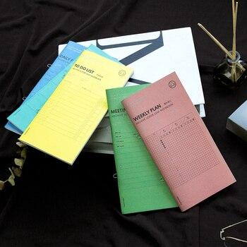 Kinbor Hand Notebook Staple Loose-Leaf Notebook Removable Notebook Day Plan Week Notebook Meeting Record Planner paris notebook
