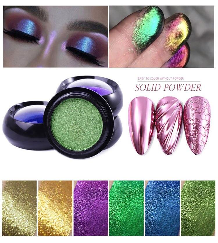 0.5g Nail Art Solid Powder Mirror Glitter Effect Metallic Color UV Gel Nail  Polishing Chrome Flakes Pigment Dust Decorations|Nail Glitter| - AliExpress