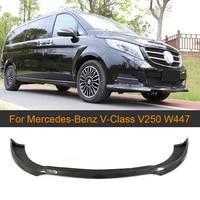 Carbon Fiber Car Front Bumper Lip Spoiler Splitter Für Mercedes Benz V Klasse W447 V250 2014 2018 MPV Front Lip Spoiler|Stoßstangen|   -