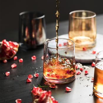1 sztuk 300ML Multicolor kieliszek do whisky przezroczysty kryształ piwo wino wódka koktajl Brandy kieliszek Bar Club kieliszki tanie i dobre opinie CN (pochodzenie) ROUND Ce ue Szkło Highball szkła Ekologiczne Zaopatrzony AJ0326 Clear Grey Multicolor Amber 8 5*7 5*7 0cm