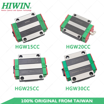 hiwin HGW15CC HGW20CC HGW25CC HGW30CC Flange  linear slider block carriage match with HGR15 HGR20 HGR25 HGR30 Linear rail 2pcs hiwin linear guide hgr20 l1000mm with 4pcs linear carriage hgh20ca cnc parts