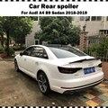 Для AUDI A4 B9 sedan 2016 2017 2018 2019 год M4 Стиль Задний спойлер из углеродного волокна для багажника губ A4 CF Стайлинг спойлер крыло