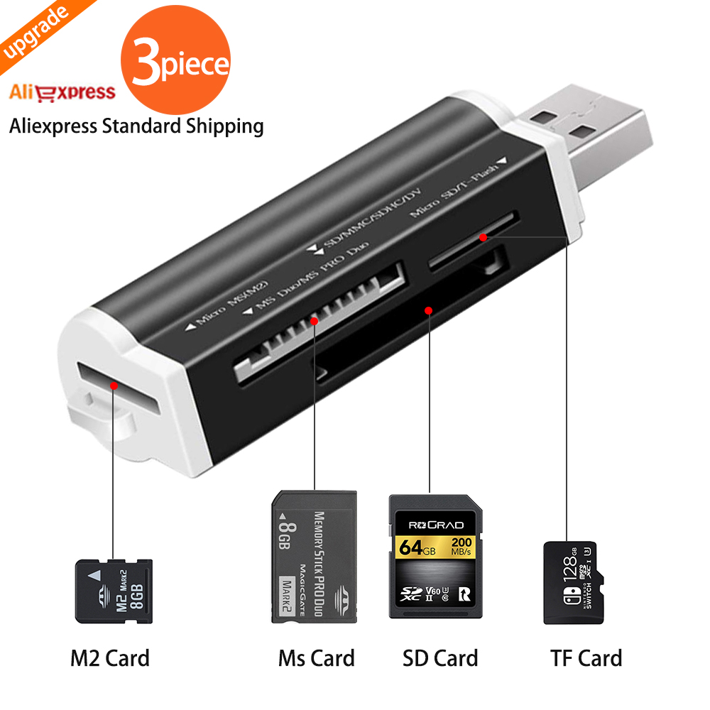 USB 2.0 Micro SD Card Reader For Micro SD Card TF Card Adapter Plug And Play For Laptop Desktop Pc