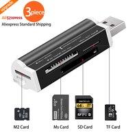 Lector de Tarjetas Micro SD USB 2,0 para tarjeta Micro SD, adaptador de tarjeta TF, Plug and Play para ordenador portátil, pc de escritorio