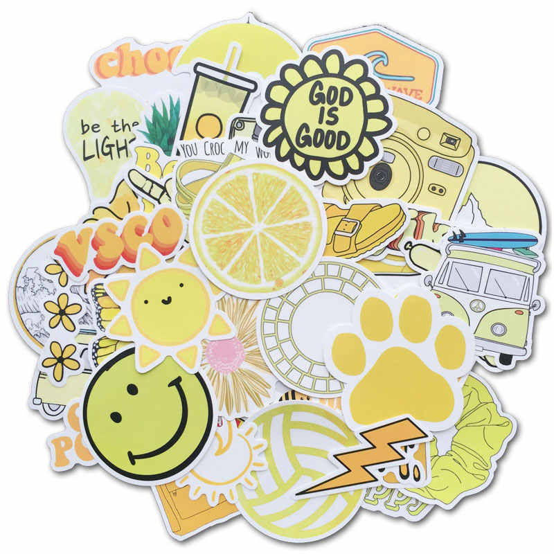 50 Pcs Cute VSCO Stickers for Water Bottles and For Teen Girls