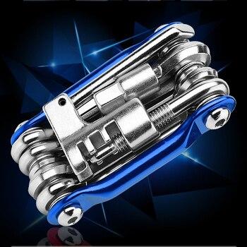 11 In 1 Mini Reparatie Pocket Folding Tool Fiets Moutain Road Bike Tool Set Fietsen Multi Repair Tools Kit Wrench|Fiets Reparatie Hulpmiddelen|   -