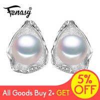 FENASY 925 boucles d'oreilles en argent Sterling pour femmes bijoux en perles d'eau douce
