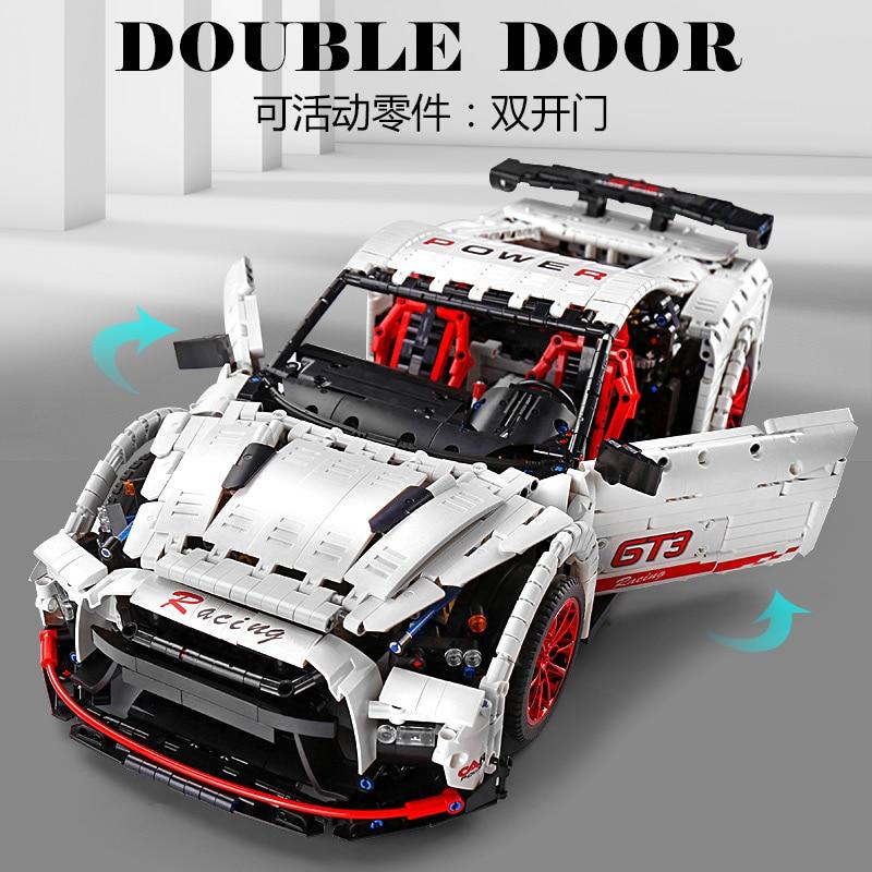 DHL Mould King 13172 3358Pcs Technic The Nismo Nissan GTR GT3 Speed Racing Sport Car Model Building Blocks Bricks Toys MOC-25326