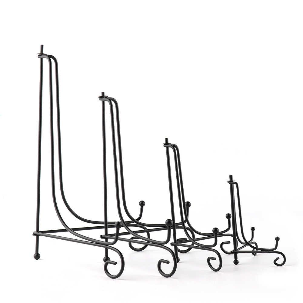 1/5 sztuk DIY Craft uchwyt stojak na książkę zdjęcia zdjęcie cokole miska ramka na zdjęcie czarny płyta żeliwna haczyki stojak sztalugi uchwyty do przechowywania