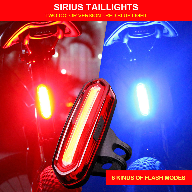 Tail-Light Bicicleta Bicycle Mountain-Bike Night-Riding Rechargeable Warning Safety Led Usb