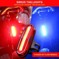 Recargable USB LED bicicleta de montaña de luz de advertencia de seguridad posterior de la bicicleta de luz de la noche en la cola-Lámpara luz de bicicleta