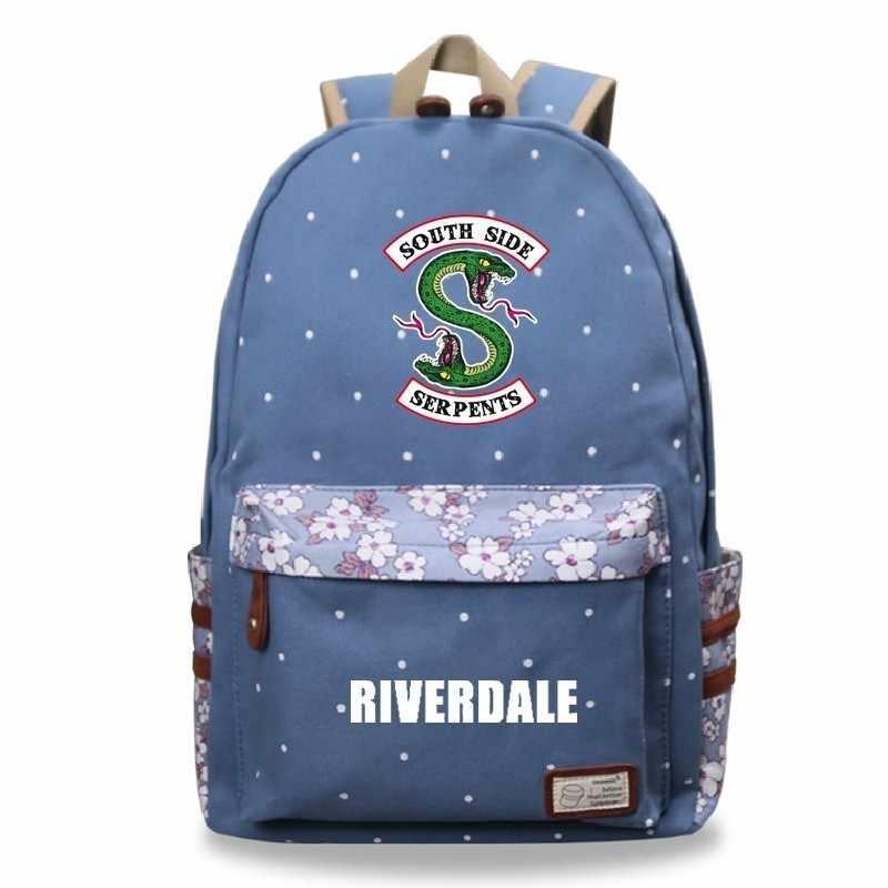 Mochila Riverdale 1-3 Fashion Print Floral Backpack Travel Anime Backbag School Bags For Teenage Girls Softback Sac a Dos Femme