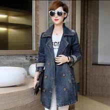 XL-5XL New Spring Fashion Oversized Women Denim Jacket Plus Size Jeans Coat Long Sleeve Autumn Outerwear Coats Female JR53(China)