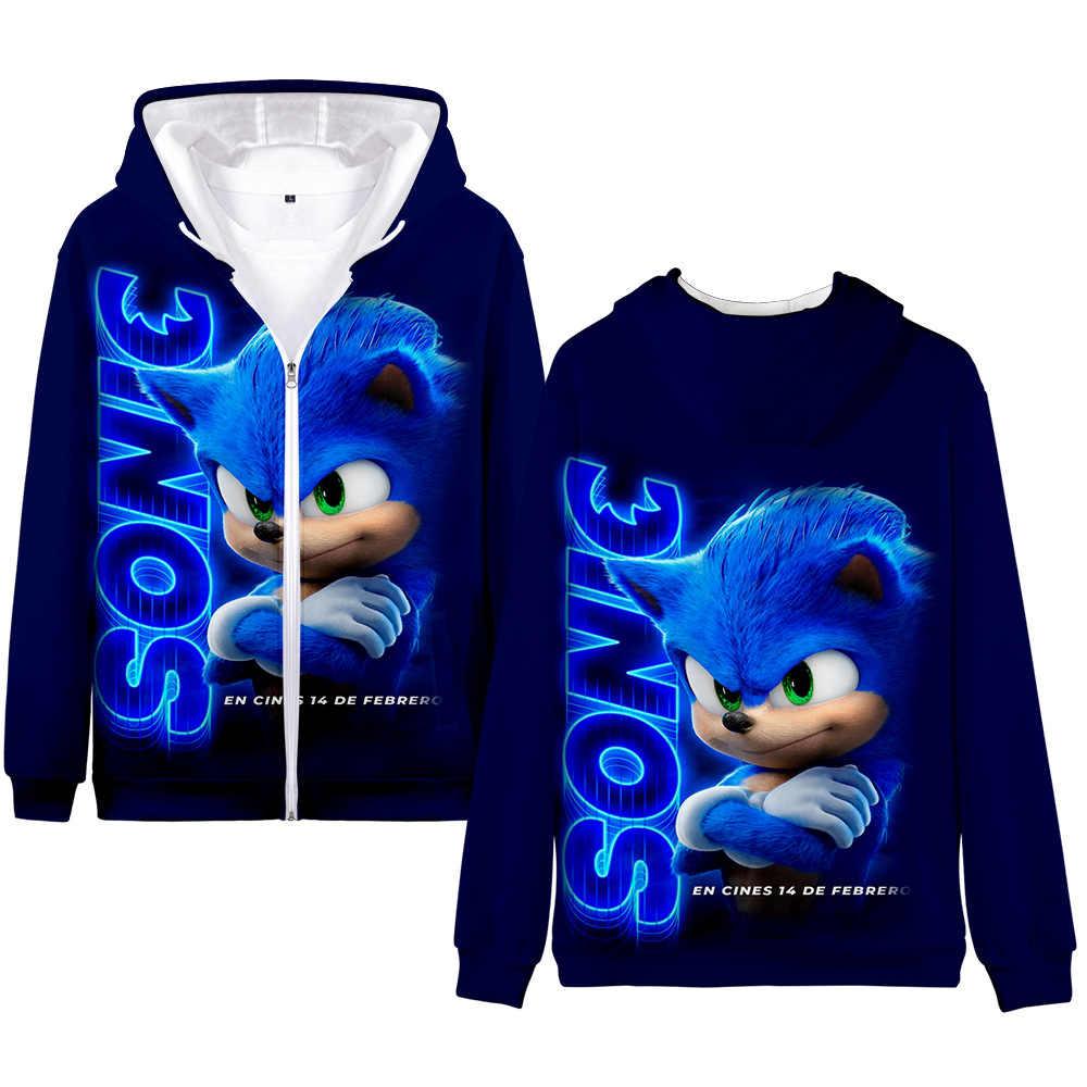 Winter Mens Jackets And Coats Sonic The Hedgehog 3d Hoodie Fleece Zipper Hooded Sweatshirt Outwear Warm Coat Kawaii Clothes Aliexpress