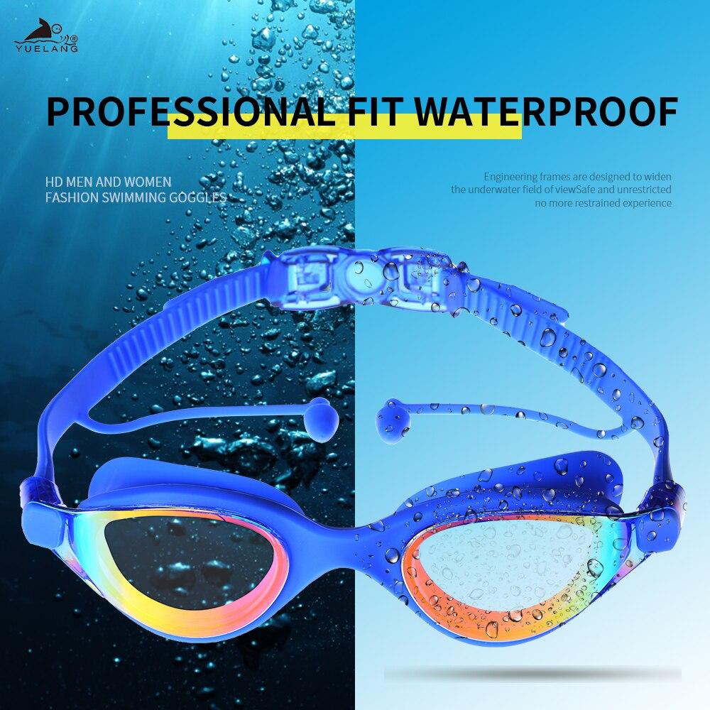 YUELANG Swim Goggles No Leaking Anti-Fog UV Protection Swimming Goggles