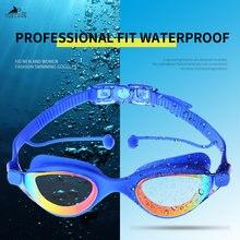 Профессиональные плавательные очки yuelang с заглушками для