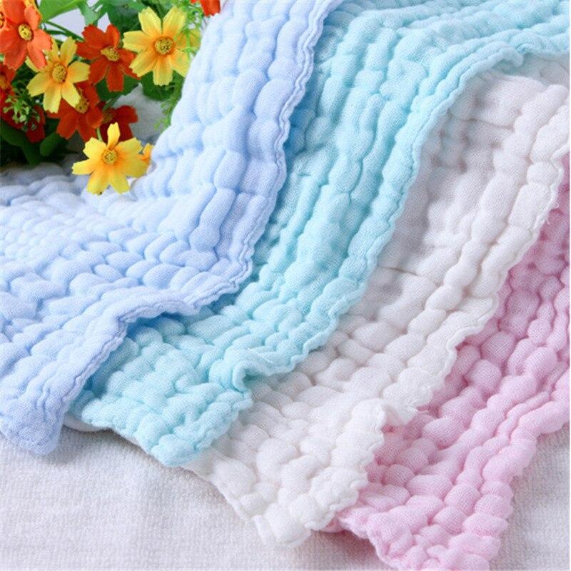 5 шт./лот, 6 слоев, для мытья воды, для кормления, Детский носовой платок, полотенце для лица, полотенце для новорожденных, размер 30*30