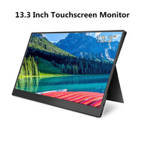 Elecrow 13.3 Inch Portable USB C Monitor HDMI Touchscreen LCD Display 1920*1080P 9MM IPS Panel Screen for Raspberry Pi