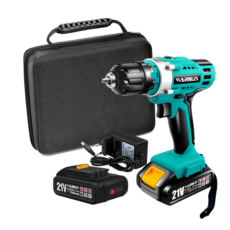 21V Multifunction Cordless Electric Drill Rechargeable Screwdriver Lithium Battery Mini Drill 2-Speed Power Tools