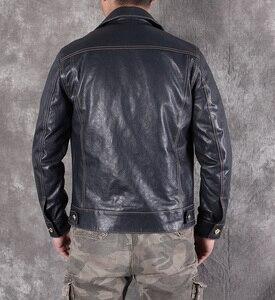 Image 2 - Ücretsiz shipping.2020 yeni erkek slim hakiki deri ceket, klasik 507 tarzı koyun derisi ceket, rahat deri ceket, moda