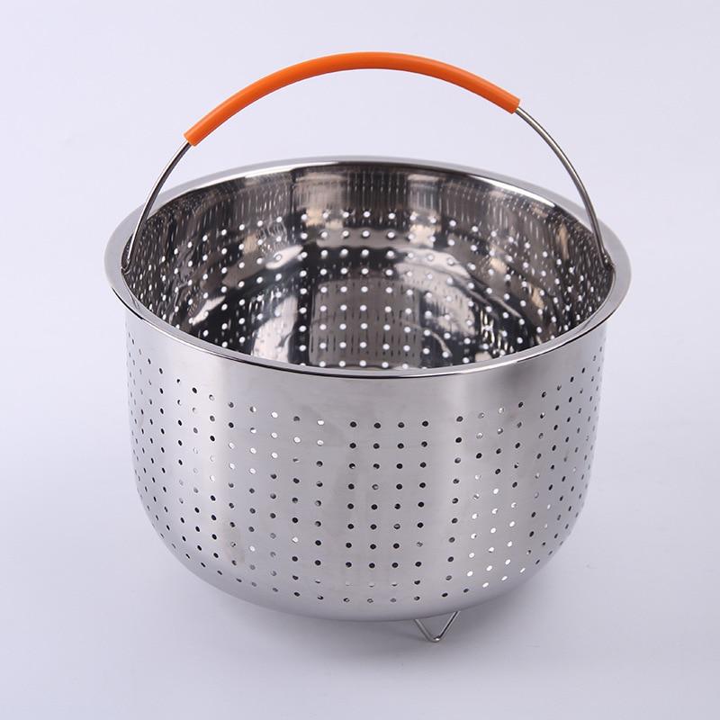 Steamer Basket For Instant Pot Accessories 6//8Qt Stainless Steel Handle Basket