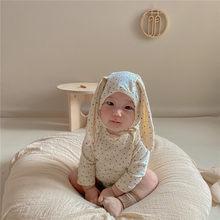 Milancel bebê bodysuits infantil meninas um pedaço little star macacões com chapéu puro algodão coelho roupas de bebê